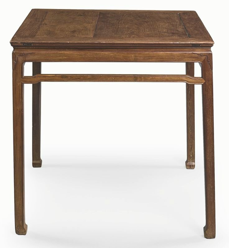 A huanghuali corner-leg square table (fangzhuo), 17th century