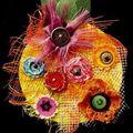 12~Fleurs papier ou tissu