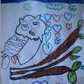 Le hibou sur sa branche