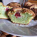 Muffins framboises - pistaches...
