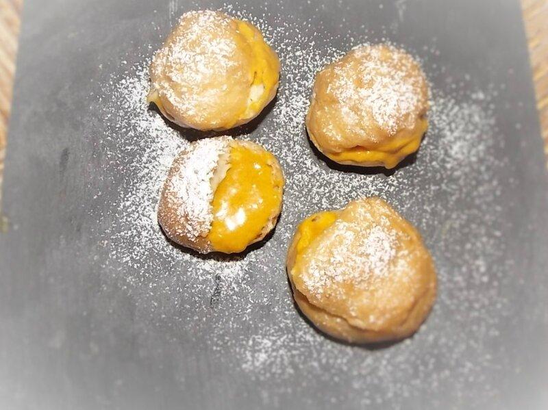Gougères beurre potimarron