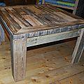 Table basse en palette