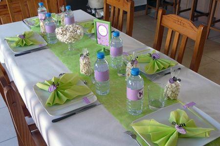 Une envol e de papillons ambiance d c 39 or - Deco de table communion fille ...
