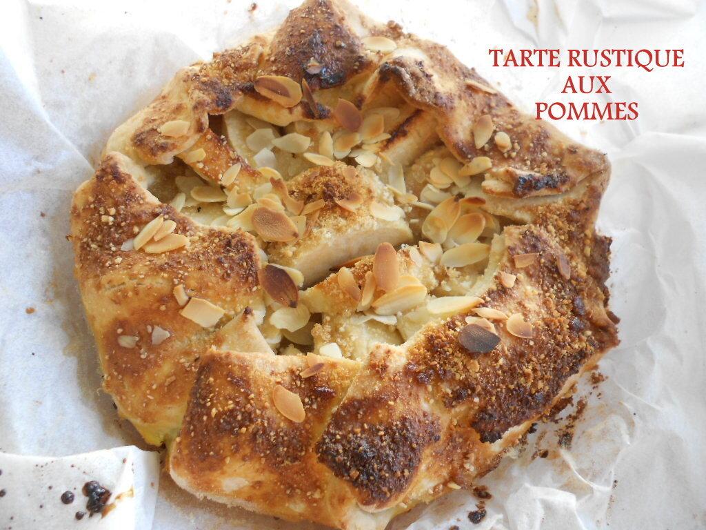Tarte rustique aux pommes et aux amandes, sans gluten