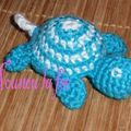 tortue turquoise au crochet