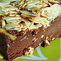 Terrine glacée au chocolat et sa croûte d'amandes
