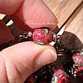 Rosaline, sautoir triple chaine, perle 39€ [VENDU]
