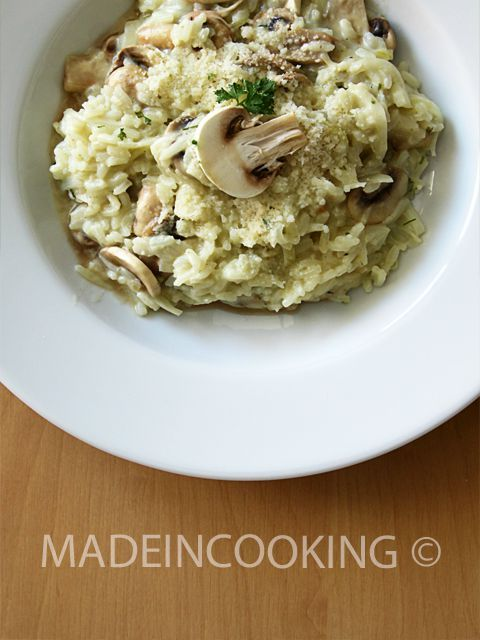 risotto aux champignons made in cooking. Black Bedroom Furniture Sets. Home Design Ideas