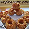 Minikouglops chorizo-parmesan