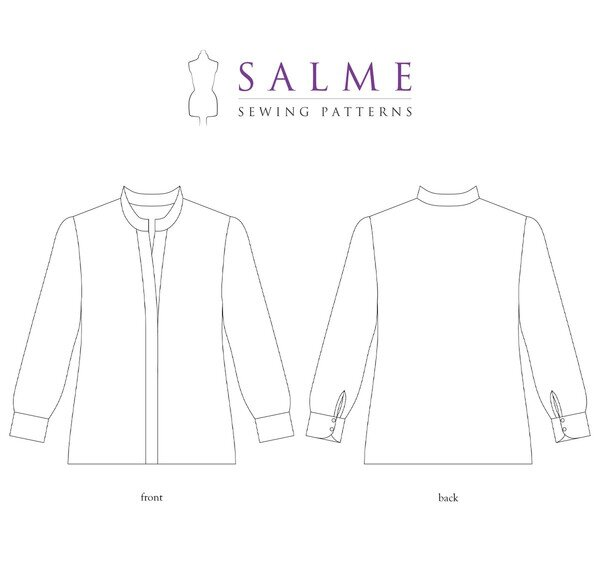 Salme Patterns - Hidden Button Shirt