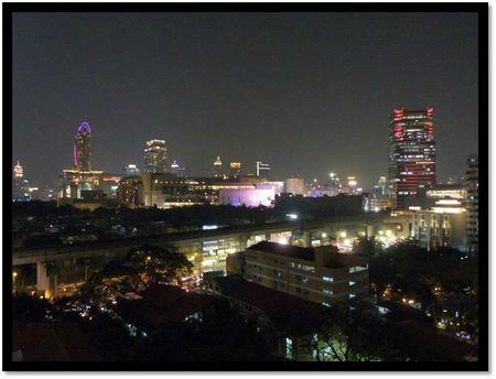 Centre de bangkok de nuit