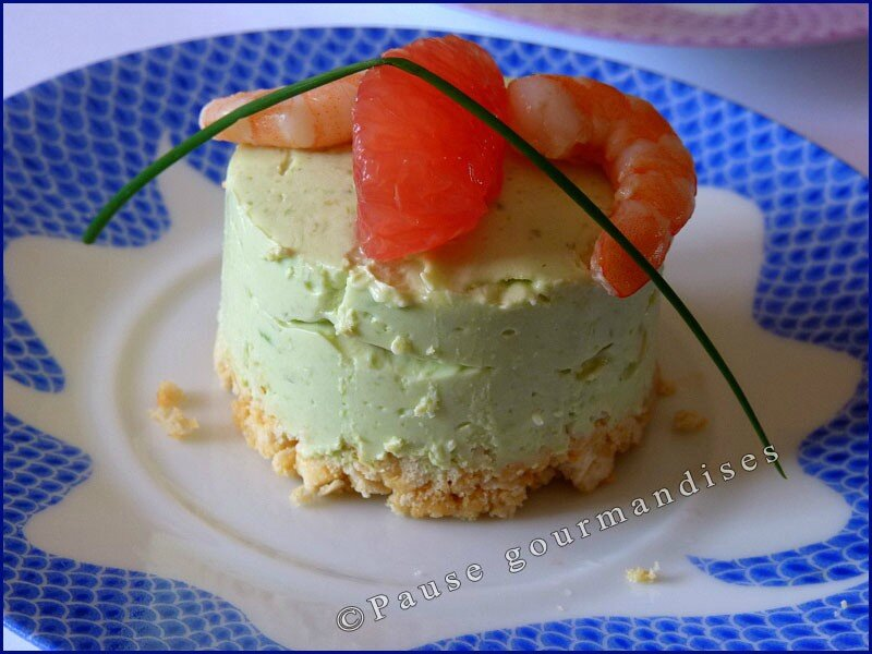 Petits cheesecake avocat crevettes au curry pause for Entree de noel froide