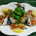Sardines farcies aux herbes et noisettes