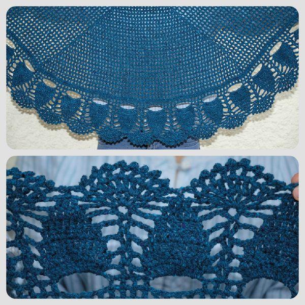 Châle bleu 2