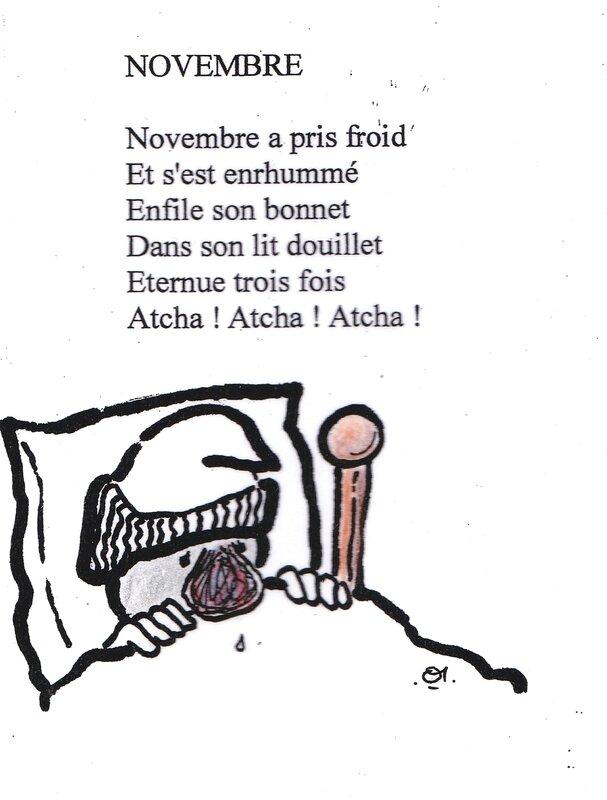 comptine novembre