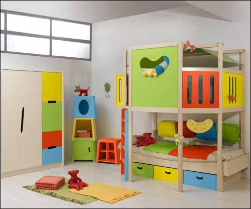 d corer une chambre avec lit mezzanine pour enfant fa on. Black Bedroom Furniture Sets. Home Design Ideas