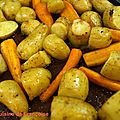 Rattes du touquet et carottes (ou comment des pommes de terre et des carottes ont bronzé dans mon four)