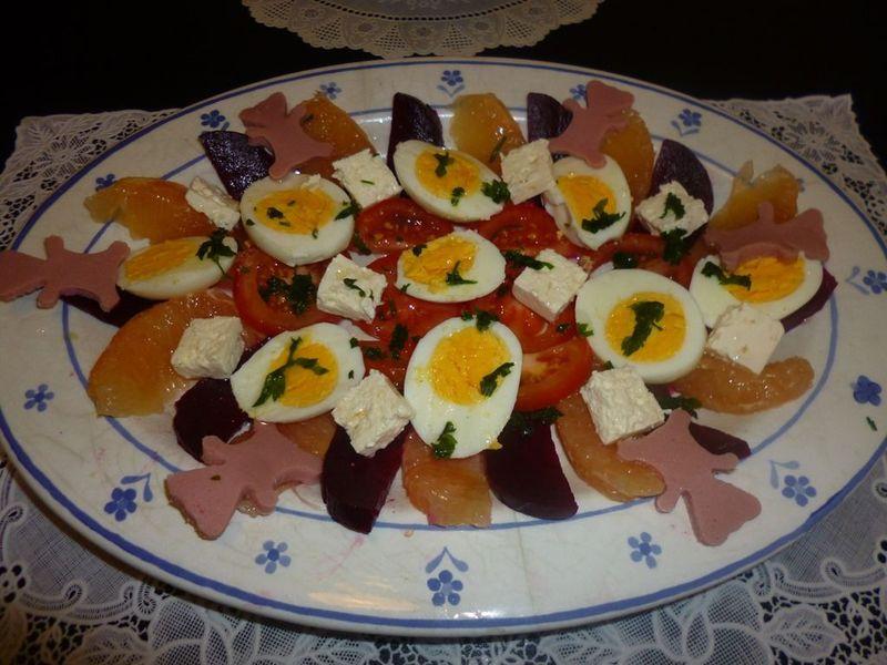 Salade vari e pour l t entr e gourmandiseassia - Entree rapide et originale ...