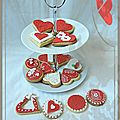 {Sugar cookies} - sabls dcors pour la St Valentin - dcor de sabls en pte  sucre .