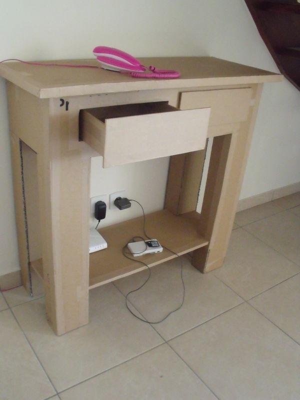 Une console en carton le grenier de lodie - Une console meuble ...