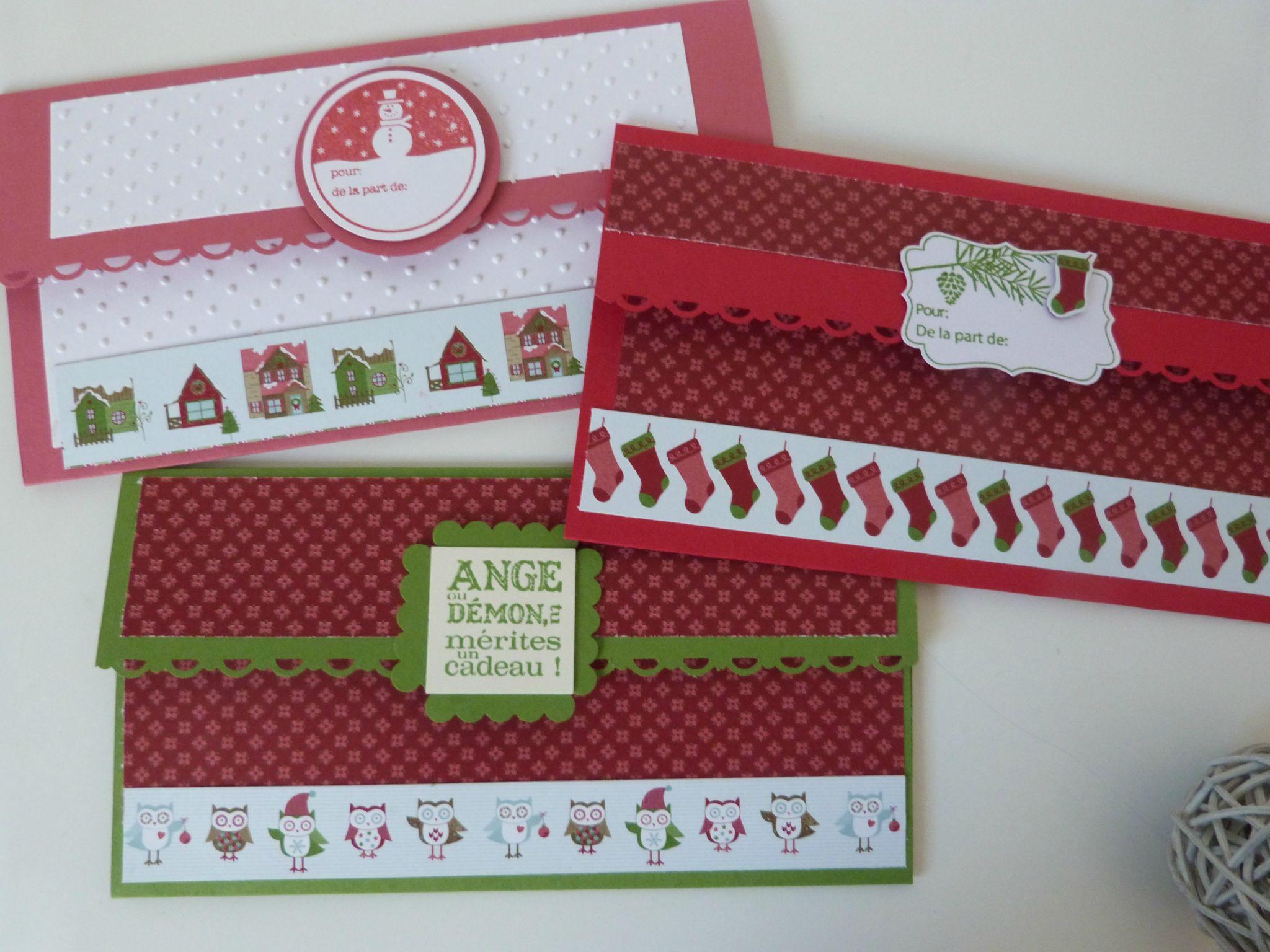 pochettes pour vos cheques cadeaux de noel stamp 39 ebullition. Black Bedroom Furniture Sets. Home Design Ideas