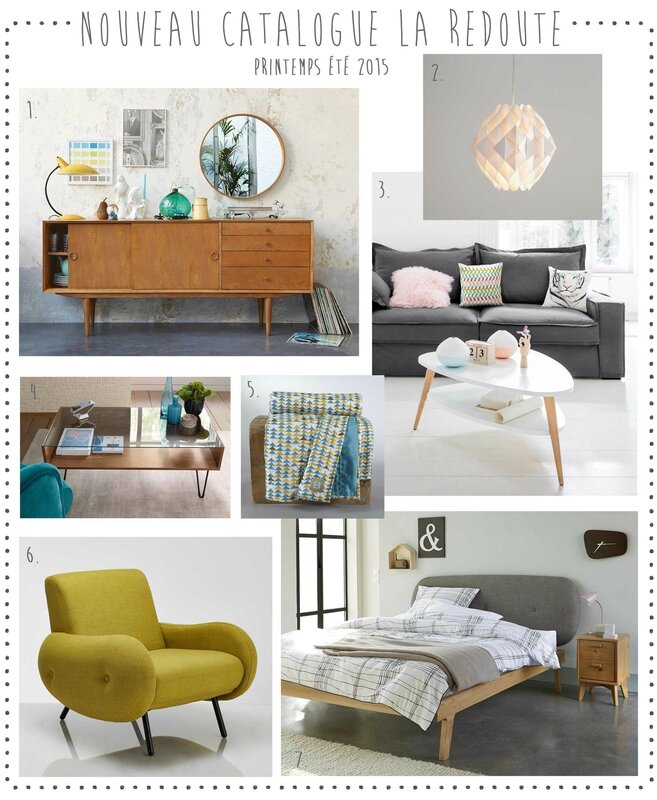 nouveau le catalogue la redoute printemps t 2015 deco trendy a t e l i e r. Black Bedroom Furniture Sets. Home Design Ideas