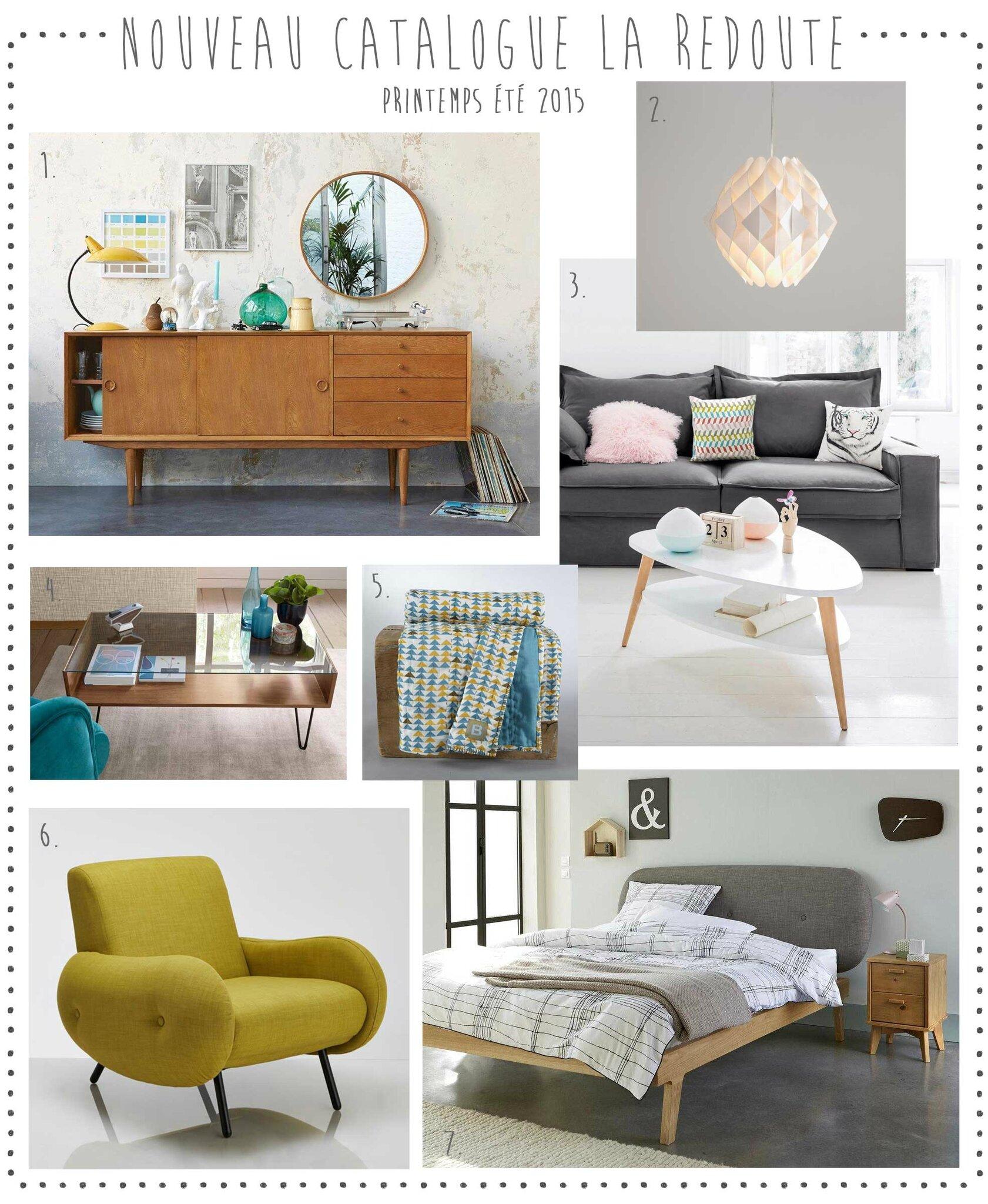 nouveau le catalogue la redoute printemps t 2015 deco trendy a t e l i e r. Black Bedroom Furniture Sets. Home Design Ideas