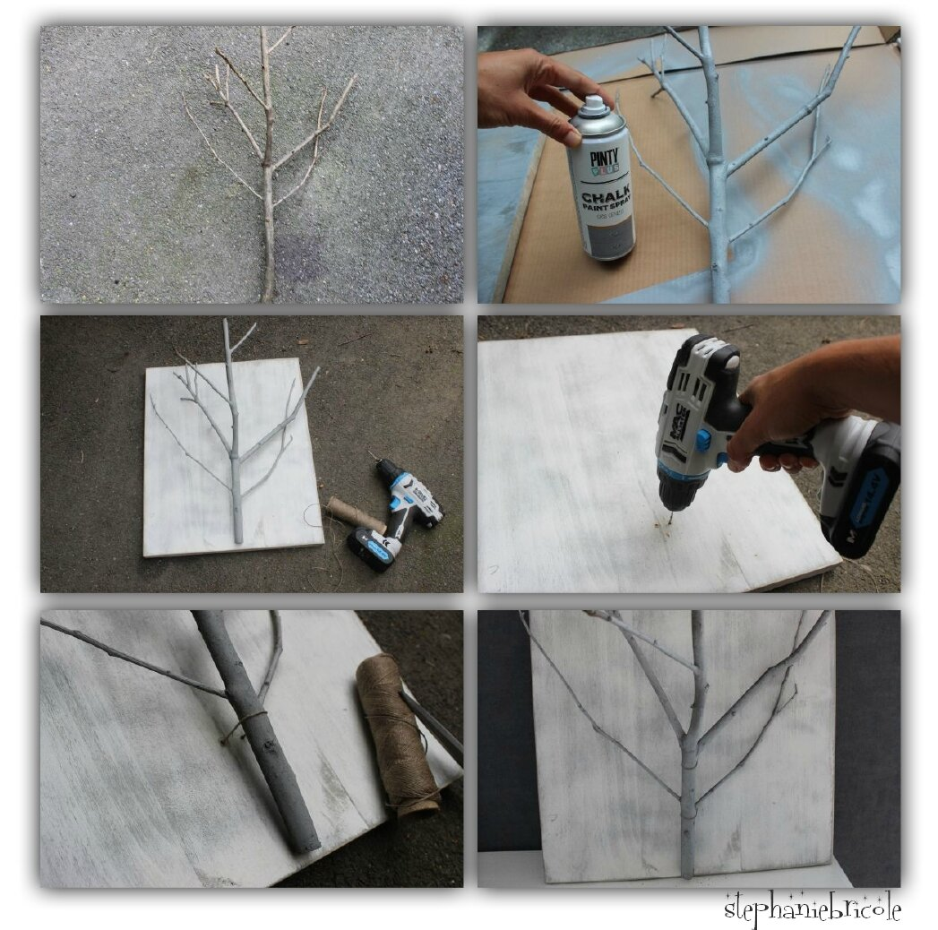 diy d co nature r cup une branche porte plantes. Black Bedroom Furniture Sets. Home Design Ideas