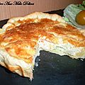 Quiche aux poireaux et au saumon fum