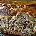 Cake au thon et a la moutarde et pignons de pin