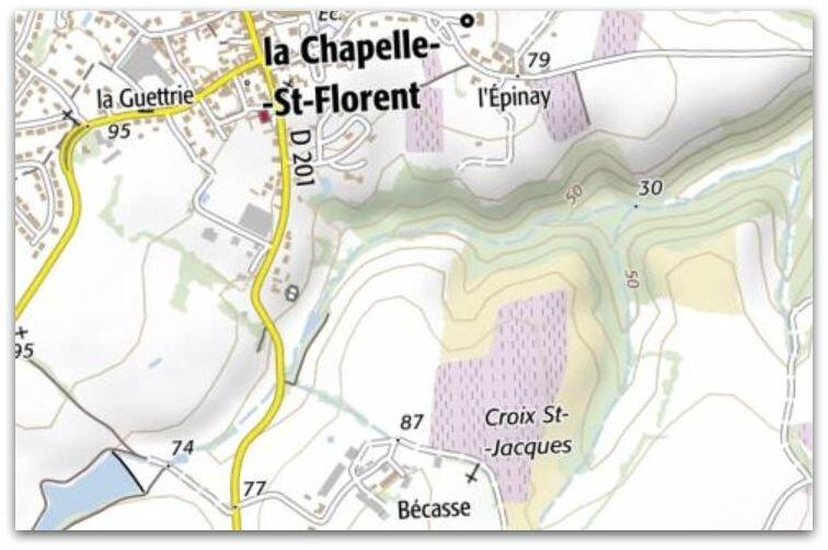 La Chapelle St Florent - croix St-Jacques z