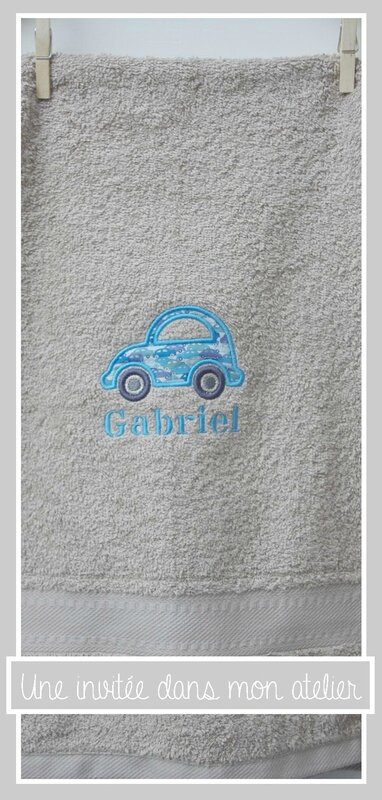 Serviette de toilette-appliqué voiture-Liberty cars blue