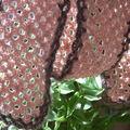 écharpe en fil velours