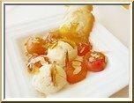 0214s- poêlée d'abricots, glace au lait d'amande
