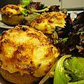 Pomme de terre au mascarpone et jambon cru