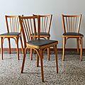 Lot 4 chaises de bistrot baumann n°12