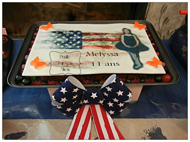 sweet table anniversaire usa miss america prunillefee 2