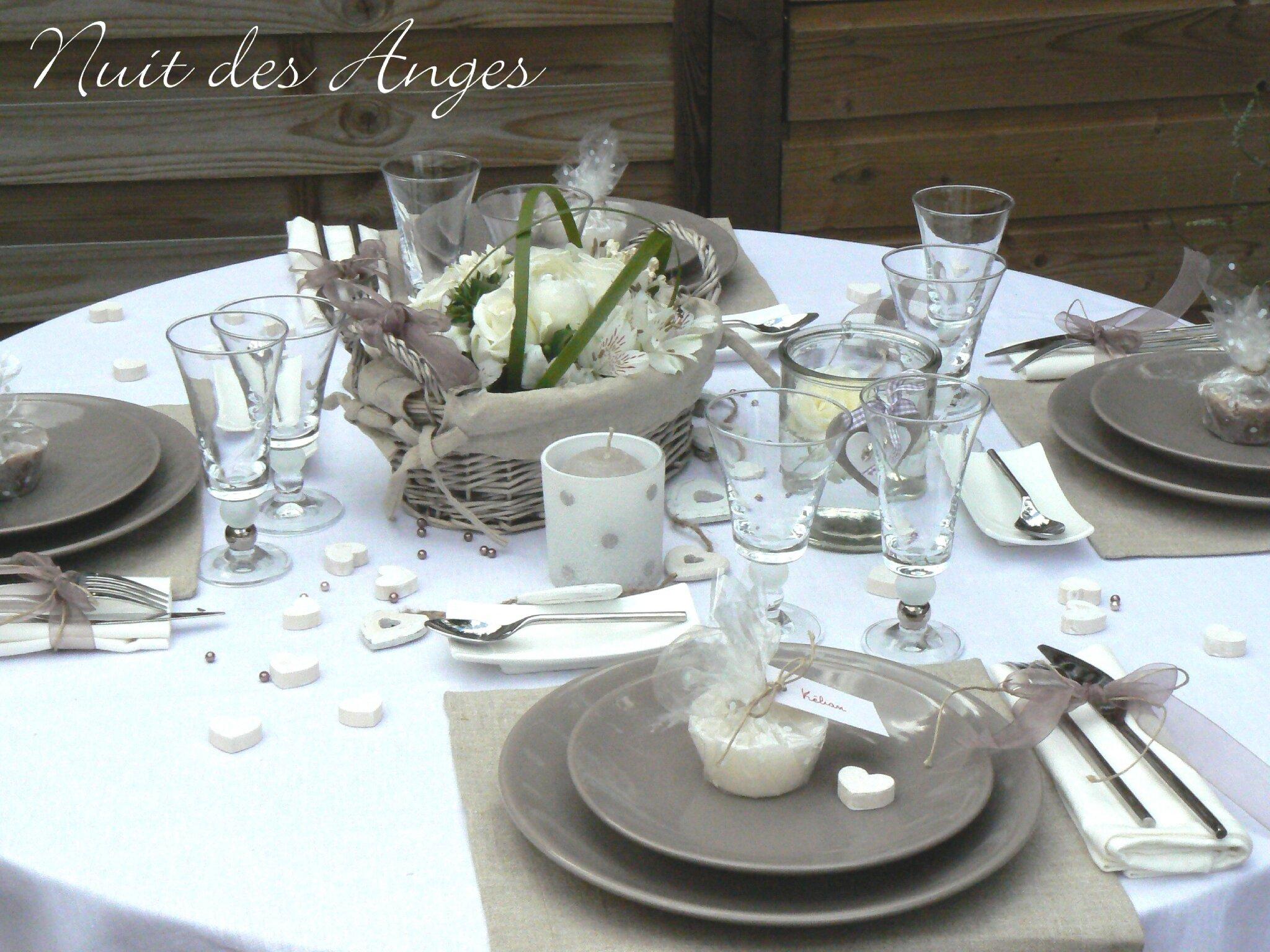 Nuit des anges décoratrice de mariage décoration de table lin 004 ...