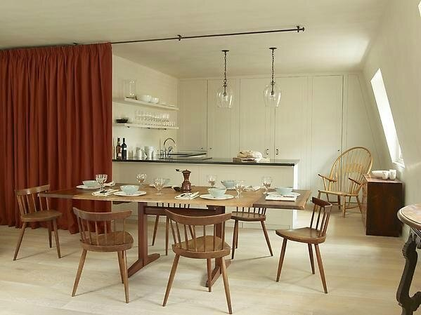 kitchen-with-red-velvet-curtain-rose-uniacke-image-by-simon-upton