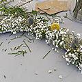 Atelier couronne de fleurs