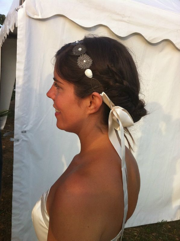Photo headband mariage