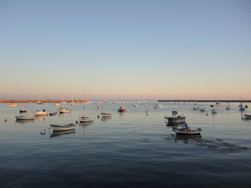 Penmarc'h, Kérity, port, fin de journée, octobre