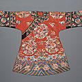 A manchu noblewoman's embroidered summer gauze informal robe, danpao, 19th century