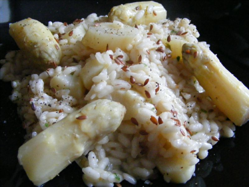 risotto aux asperges blanches