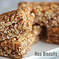 Des barres de céréales ultra-gourmandes sans cuisson ou no bake peanut butter granola bars.