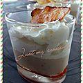 Crème de coco de paimpol sur confiture de piment, chantilly au lomo