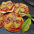 Petites pizzas tropicale