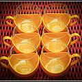 Tasses melitta jaunes des années 70