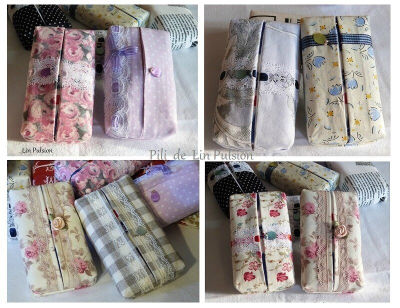 serie de pochettes à mouchoirs
