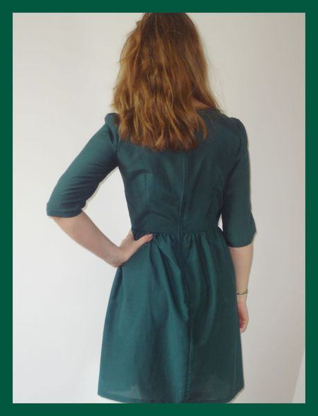 Robe vert sapin en 36 dos